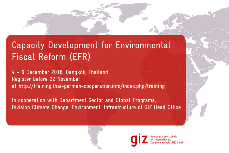 Environmental Fiscal Reform (EFR) Training in Bangkok, Thailand